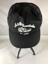 L.W.Barret Mesh Truckers Hat Cap USA Made A & B Sanitation Vintage