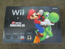 NEW Nintendo Wii Holiday New Super Mario Bros. Bundle Black System Console