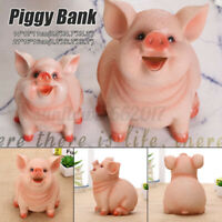 Piggy Bank Silicone Coin Bank Money Saving Box Storage Pig Toy Gifts for Kids A
