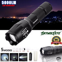 G700 X800 5000LM Tactical LED Flashlight Zoom Super Bright Military Grade Torch