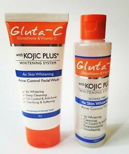 Gluta-C with Kojic Plus Lightening Acne Control Face Wash and Whitening Toner