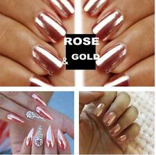 SALE! MIRROR POWDER CHROME EFFECT Pigment NAILS Rose Gold Silver Nail Art Decor