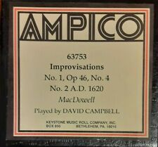 IMPROVISATIONS BY MACDOWELL AMPICO RECUT REPRODUCING PIANO ROLL