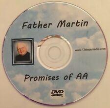 """Father Martin """"Promises Of AA"""" 9th ALCOHOLICS ANONYMOUS DVD FREE SHIPPING RARE"""