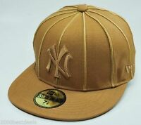 NEW ERA MLB FITTED CAP 59FIFTY NEW YORK YANKEES 12 PACK WHEAT FITTED CUSTOM HAT
