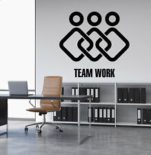 Vinyl Wall Decal Teamwork Home Office Decor Logotype Stickers (2968ig)