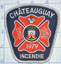 CANADA, CHATEAUGUAY FIRE DEPT INCENDIE QUEBEC WHITE EDGE PATCH