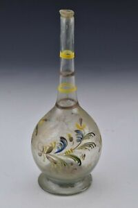 18th Century Stiegel Type Blown Glass Rose Water Bottle