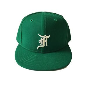 """Fear Of God """"Essentials"""" x New Era x MLB fitted hat size 7 1/2 Kelly Green/white"""