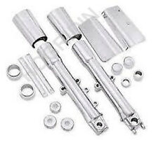 Harley softail fatboy chrome front end package lower fork sliders legs  46661-07