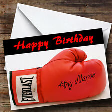 Signed Boxing Glove Personalised Birthday Greetings Card