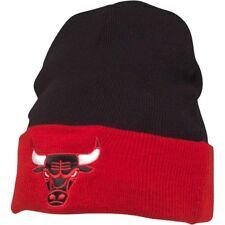 Mitchell & Ness Mens Chicago Bulls 2 Tone Cuff Knit Black Beanie New