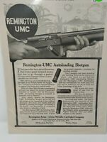 Vintage Antique Print Advertisement Ad 1913 Remington AMC Shotgun Rifle