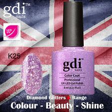 UK SELLER Gdi Nails Diamond Glitters K25 UV/LED Gel Soak Off nail polish