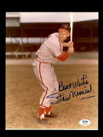 Stan Musial PSA DNA Coa Hand Signed 8x10 Photo Cardinals Autographed