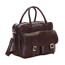Slimbridge Essen Real Leather Travel Carry On Cabin Hand Luggage Under Seat Bag,