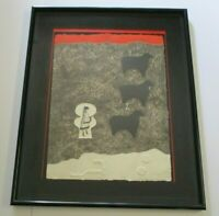 MAX PAPART  ETCHING  ABSTRACT EXPRESSIONISM FRENCH LIMITED MODERNIST SIGNED RARE