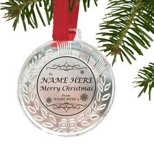 PERSONALISED  CHRISTMAS TREE DECORATION BAUBLES IN LOVING MEMORY FAMILY FRIENDS