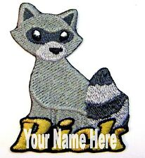 Raccoon Custom Iron-on Patch With Name Personalized Free