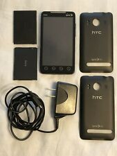 HTC EVO 4G PC36100 Smart Cell Phone Locked wCharger Extra Battery ExtraBackCover