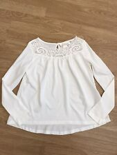 Girls H&M Cream Lace Detail Top 8-10 Years BN