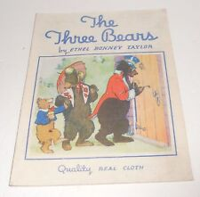 Vintage 1935 The Three Bears by Ethel Bonney Taylor Rare Whitman Cloth Book