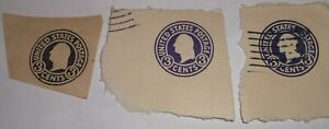 Lot of 3 US Embossed 3 cent Stamps ..Washington