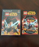LEGO Star Wars: The Video Game (Sony PlayStation 2, 2005) PS2 Complete w Manual