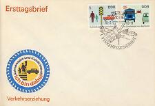 Ersttagsbrief DDR MiNr. 1444, 1447, Sicherheit im Straßenverkehr (II)