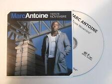 MARC ANTOINE : TRISTE NOVEMBRE [ CD SINGLE PORT GRATUIT ]