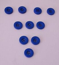 20  Blue  4  Hole   Resin  Buttons  15  mm   Very Sturdy             Wt  10 g