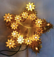 Vintage Christmas Tree Topper Star Lights Up Working