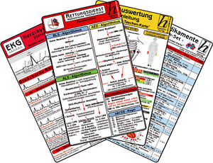 Rettungsdienst Karten-Set - ( 6 Karten-Set )