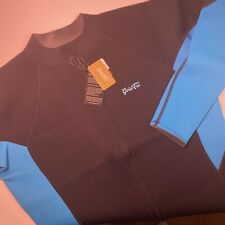 GoldFin Wet Suit Top Full Zip Unisex Size 5XL  Aqua Blue And Black NWT NEW