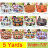 "5Yds 22mm-7/8"" Cartoon Flowers Printed Grosgrain Ribbon Free shipping DIY Bow"