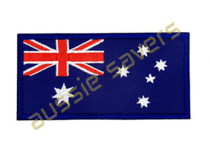 AUSTRALIA FLAG PATCH EMBROIDERED IRON ON 95 X 50MM - QUANTITY DISCOUNT