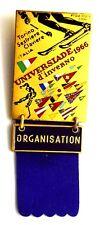 Spilla Universiade D'Inverno 1966 Torino Sestriere Claviere Italia FISU CUSI CON