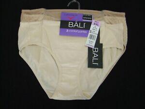 Bali Comfort Flex Hipster Panties ~ 3 Pack ~ Size 8 XL ~ Retail $28 ~ NWT ~ j6c