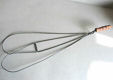"""Antique Rugbeater Rug Beater Carpetbeater Wire wood Handle 30"""" FREE SH"""