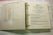 HP 8566B MANUAL UPDATING SUPPLEMENT