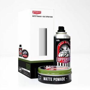 Uppercut Matte Pomade 100g and Salt Spray 150ml Hair Styling Gift Set For Men
