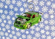 Custom Christmas Ornament 1/64 Scale 2001 '01 Mitsubishi Evolution VII Car Green