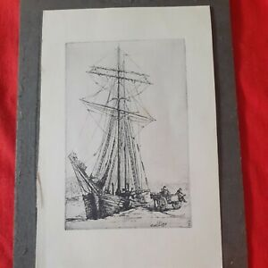 """Etching by collier"""" cornish  boys at play"""""""