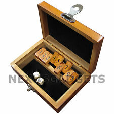 WAM Mini Shut the Box Board Game Set Wood Number Drinking Games Dice VINTAGE
