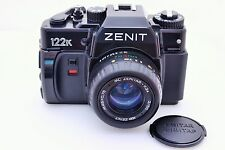 New Zenit 122K SLR 35mm film camera in box KMZ KIT Zenitar lens