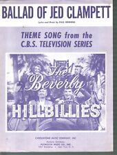 Ballad of Jed Clampett 1962 The Beverly Hillbillies Sheet Music