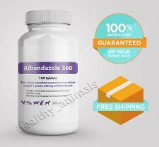 Alb-deworm 360 mg 100 Tablets De Wormer Dog Cat Animals Treatment Anthelmintic*
