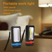Portable COB USB Solar LED Rechargeable Work Light Magnet Flashlight Torch Lamp