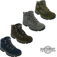 Mens Waterproof Walking Boots Northwest Hiking Lace Up Trail Trekking Shoes 7-12