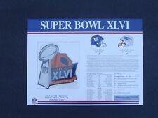2012 NFL Super Bowl XLVI (46 ) Patch New York Giants  vs New England Patriots